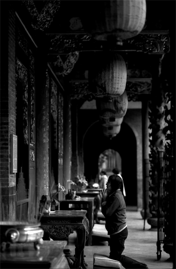 Woman Praying In Baoan @ Taiwan