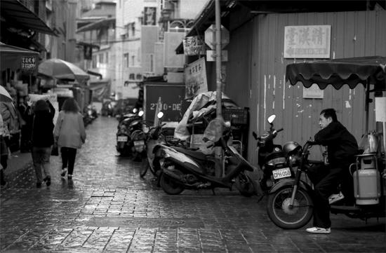 Man Sitting On The Motorbike @ Taiwan