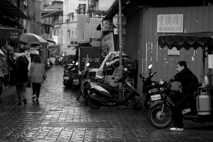Man Sitting On The Motorbike (Taiwan)