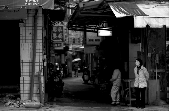 Woman Standing At The Corner @ Taiwan