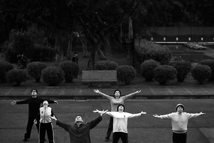 Spreading Arms In Zhongshan Park (Taiwan)
