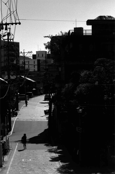 Silhouette In The Street (Nagasaki)