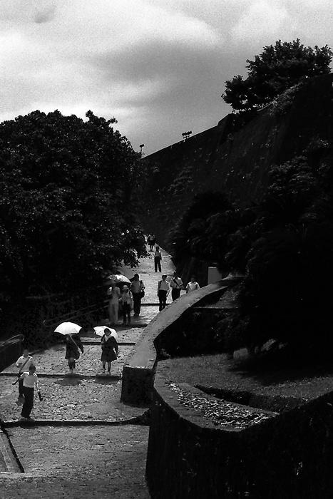 Umbrella Walking The Path In Shuri Castle (Okinawa)