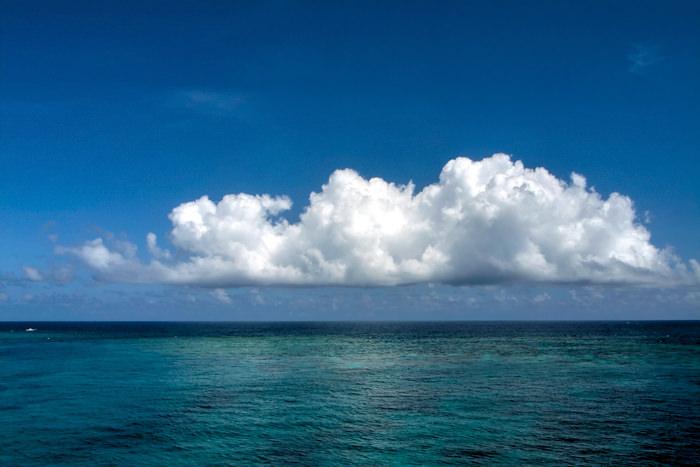 Big cloud above sea