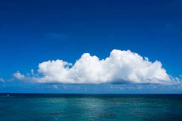 Big Cloud Above The Sea (Okinawa)