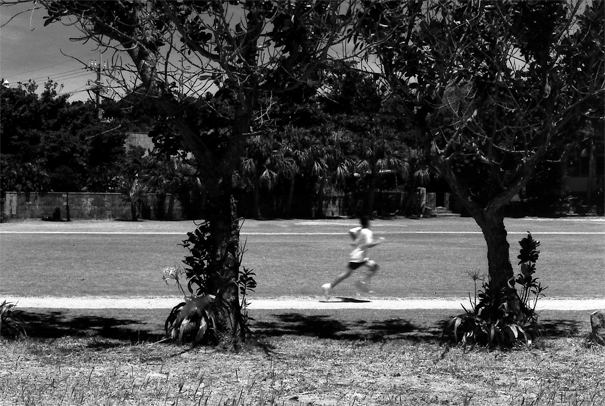 Boy Was Running In The Field @ Okinawa