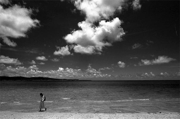 Woman Wading Ashore (Okinawa)