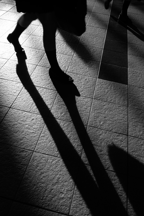 Shadow of leg
