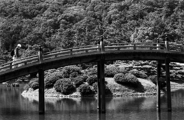 Engetsu-kyo Bridge In Ritsurin Garden @ Kagawa