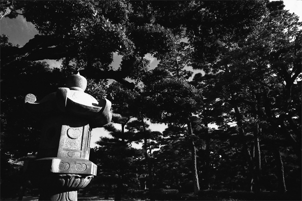 Stone Lantern In Tamamo Park (Kagawa)