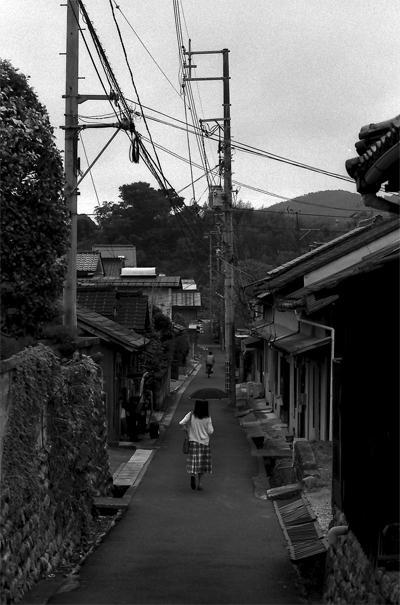 Narrow Street With The Umbrella (Okayama)