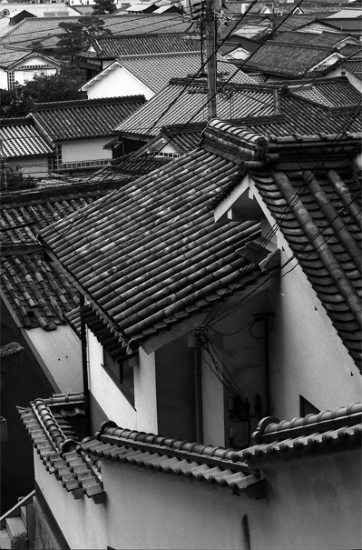 Tiled Roofs In The Historical Quarter (Okayama)