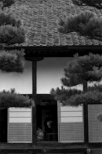 Women Wearing Kimono In The Building (Okayama)