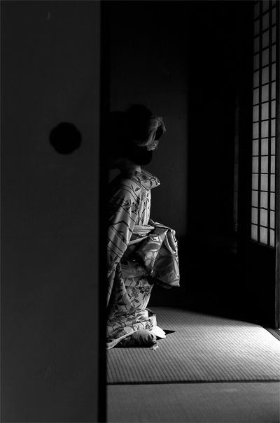 Figure Wearing Kimono In The Next Room (Okayama)