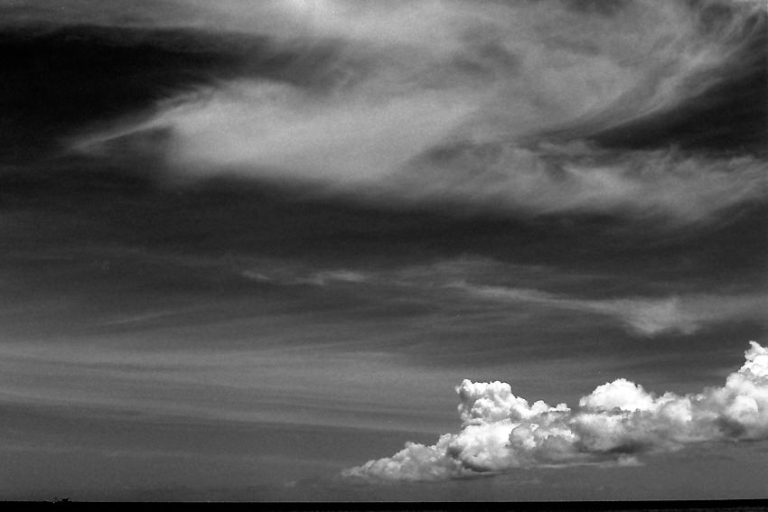 Dense clouds and light clouds