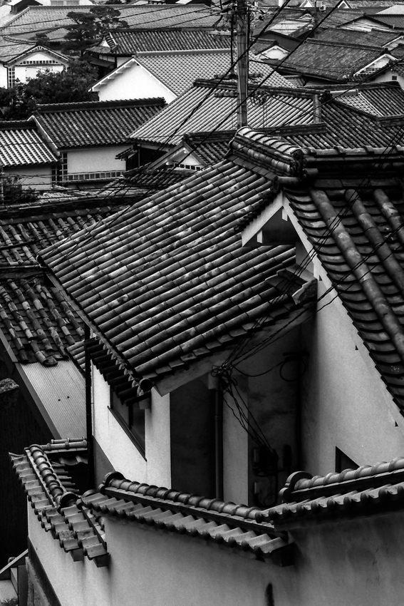 倉敷に広がる瓦屋根