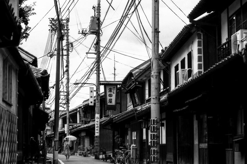 倉敷美観地区の古い町並み