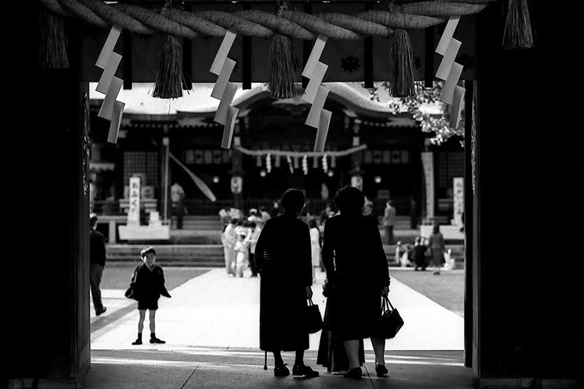 Dressed people at gate