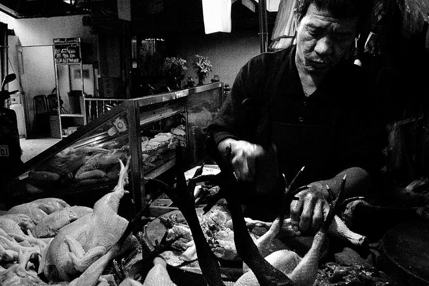 Butcher cutting