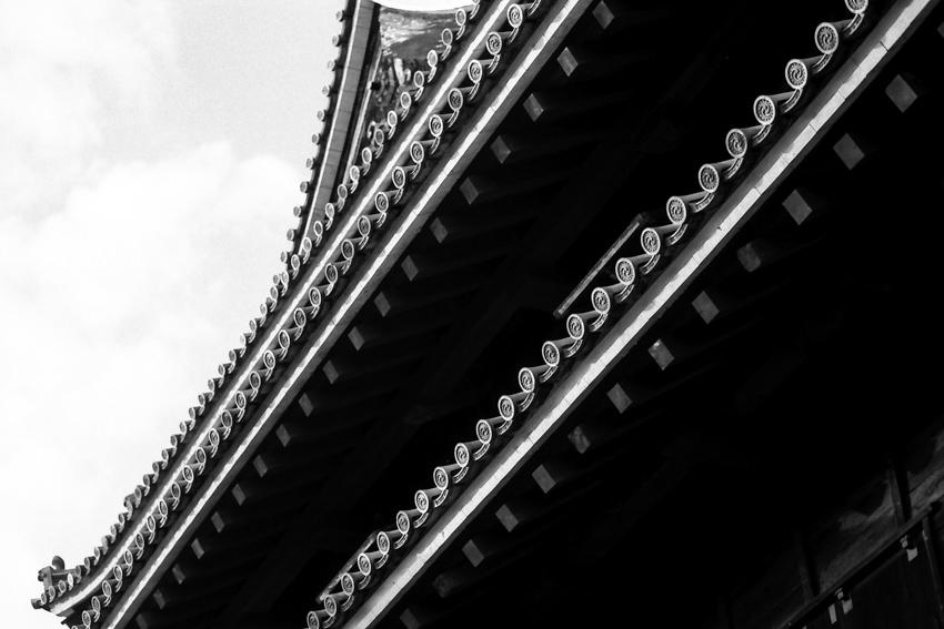 roof of Matsue castle