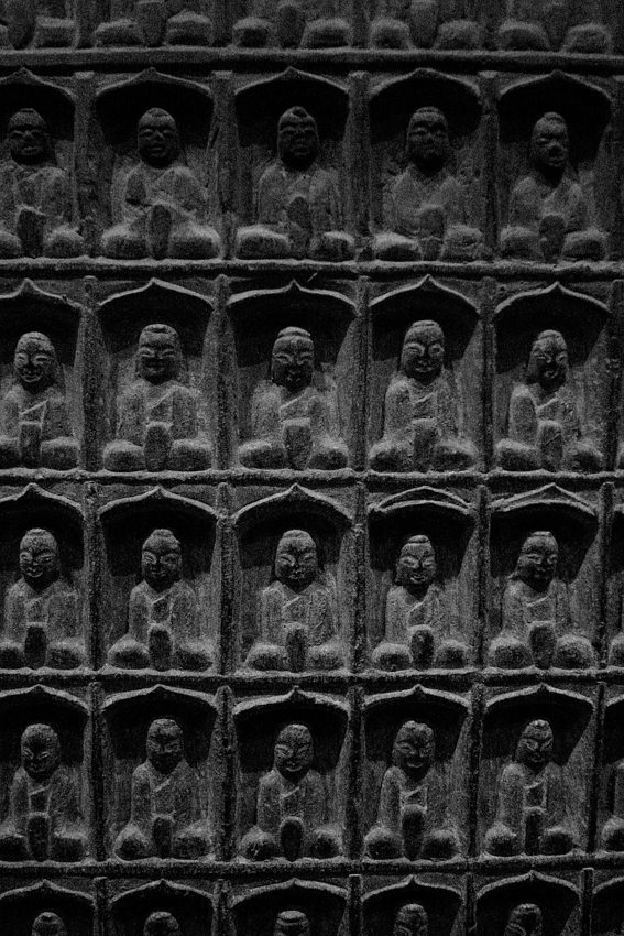 Slate palette with Buddha images
