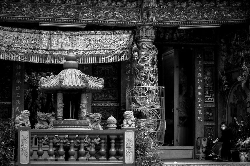 派手な装飾の寺院
