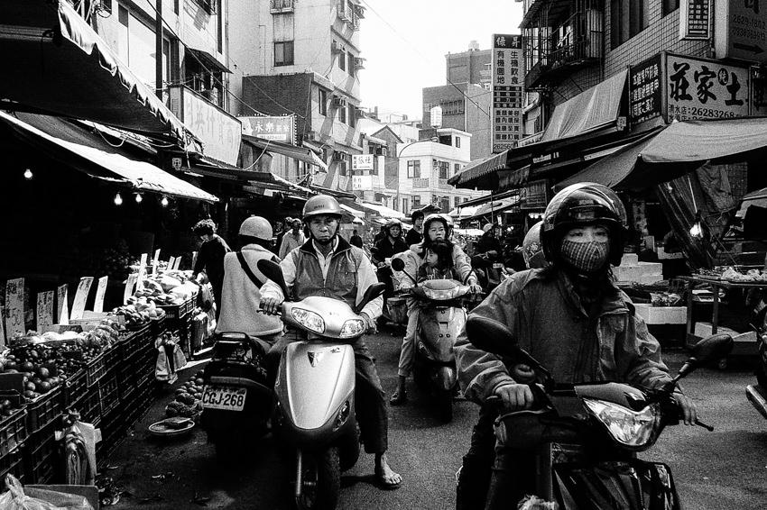 People riding motorbike