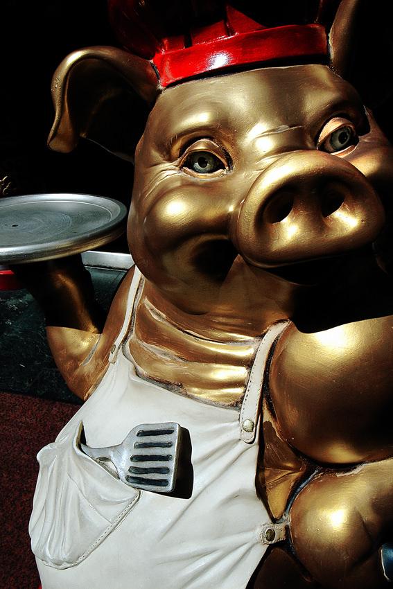 得意げな顔の豚