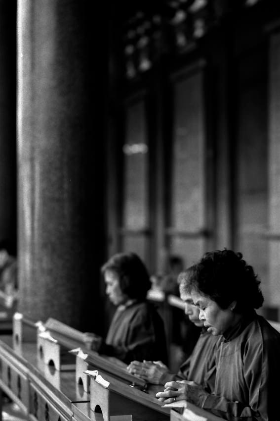 Women reading script