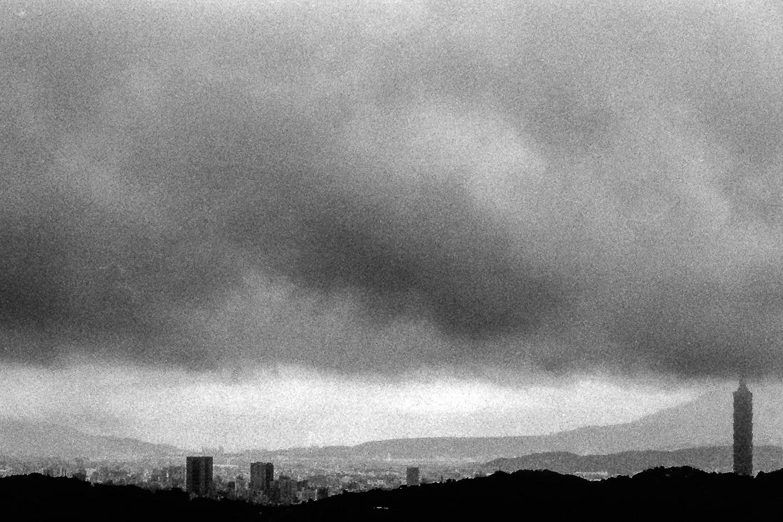Cloudy cityscape of Taipei