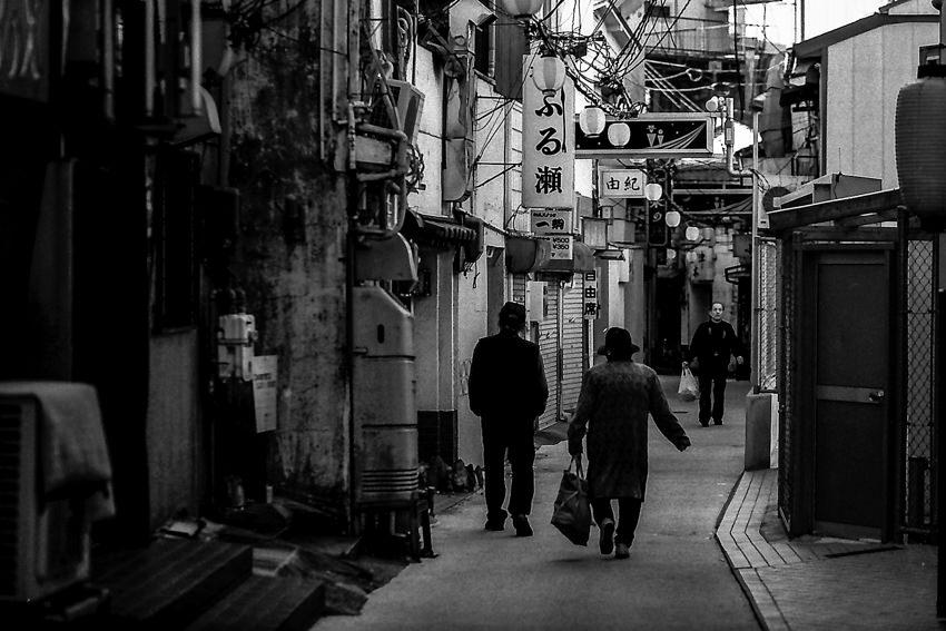 People walking lane in Maruyama district