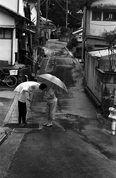 Two Umbrellas And A Drainage Conduit @ Okayama
