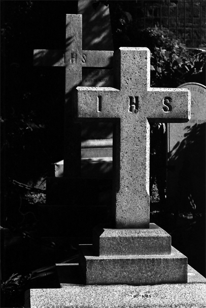 Two Crosses In Yokohama Foreign General Cemetery (Kanagawa)
