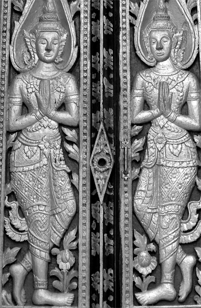 Door Of Wat Xieng Muan (Laos)