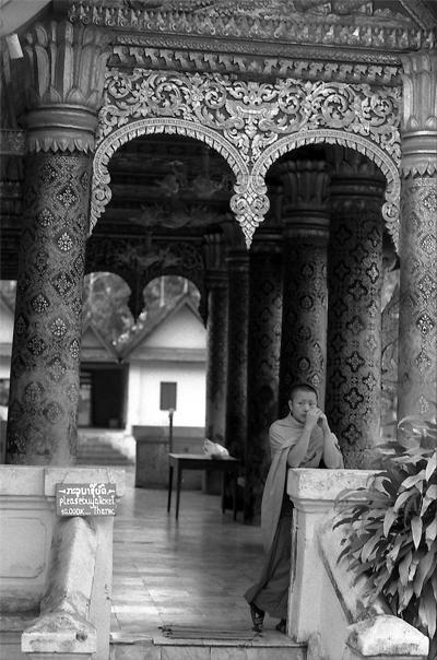 Monk In Wat Mai (Laos)