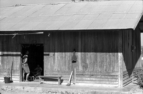 Wooden House With A Zinc Roofing @ Laos