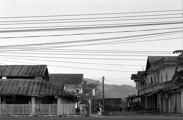 Electrical Wires In The Main Street Of Muang Sing (Laos)