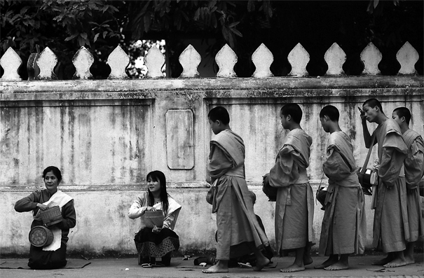 Monks Waiting Their Turn (Laos)