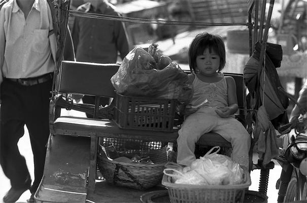 Sleepy Girl On The Seat (Laos)