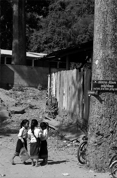 After-school Girls Wearing Sinh (Laos)