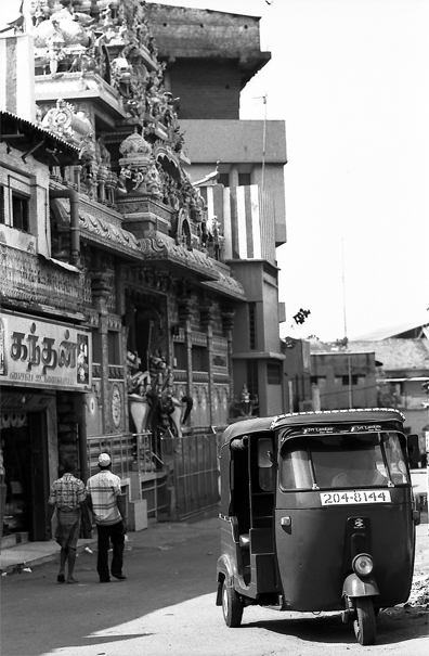 Three Wheeler And Hindu Temple (Sri Lanka)
