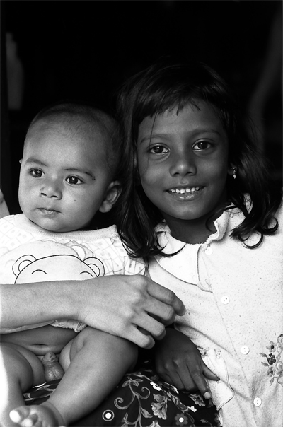 Smiling Baby And Girl (Sri Lanka)