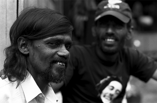 Longhaired Man Narrowed His Eyes @ Sri Lanka
