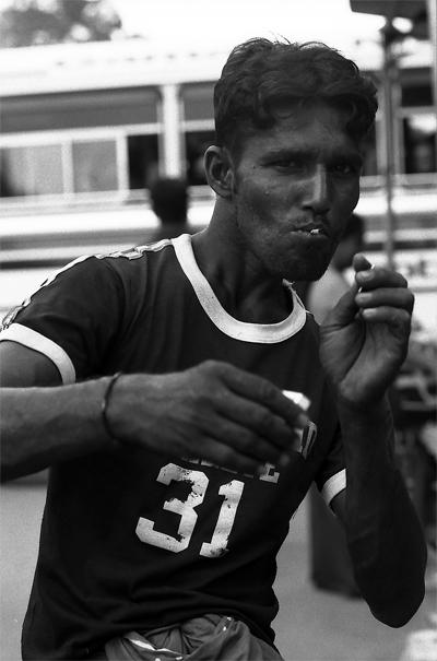 Man Posing Like A Boxer (Sri Lanka)
