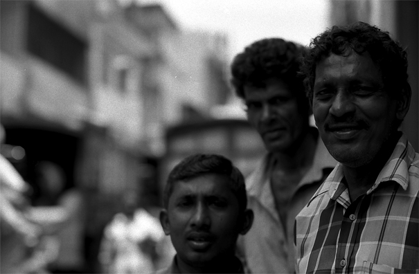 Three Men Were Resting In The Wholesale District (Sri Lanka)