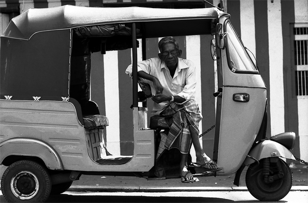 Three-wheeler Driver Was Looking At Me (Sri Lanka)