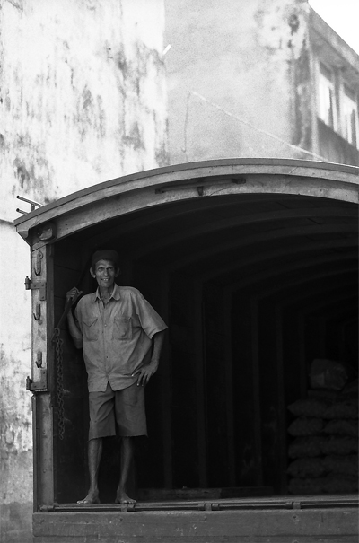 Man Wearing Shorts On The Truck @ Sri Lanka