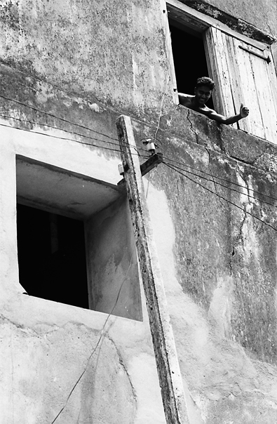 Man Thumbed Up By The Window @ Sri Lanka
