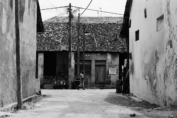 Man Walking Alone In The Old City (Sri Lanka)