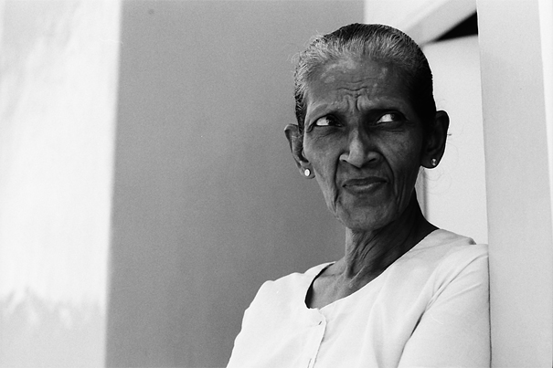 Older Woman Looking Into The Distance @ Sri Lanka